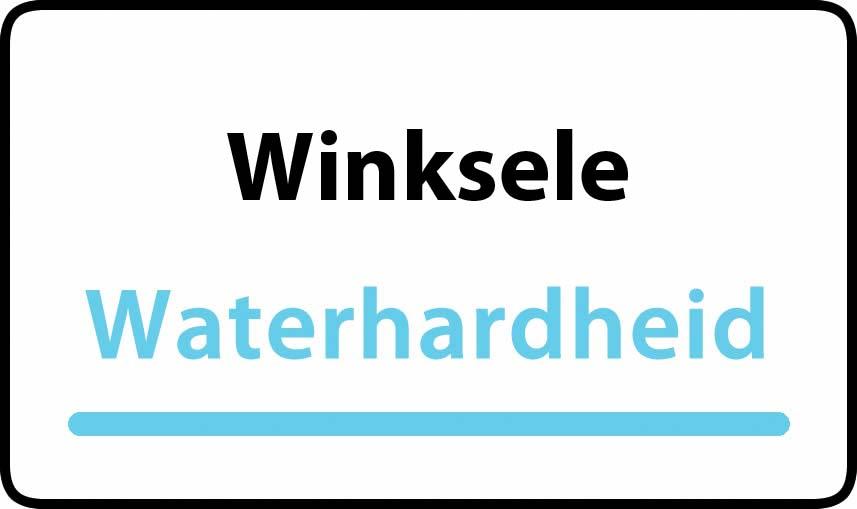 waterhardheid in Winksele is hard water 42 °F Franse graden