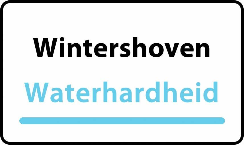 waterhardheid in Wintershoven is hard water 35 °F Franse graden