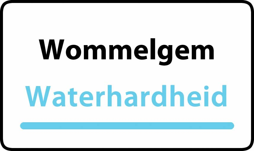 waterhardheid in Wommelgem is middel hard water 17 °F Franse graden