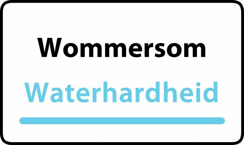 waterhardheid in Wommersom is middel hard water 21 °F Franse graden