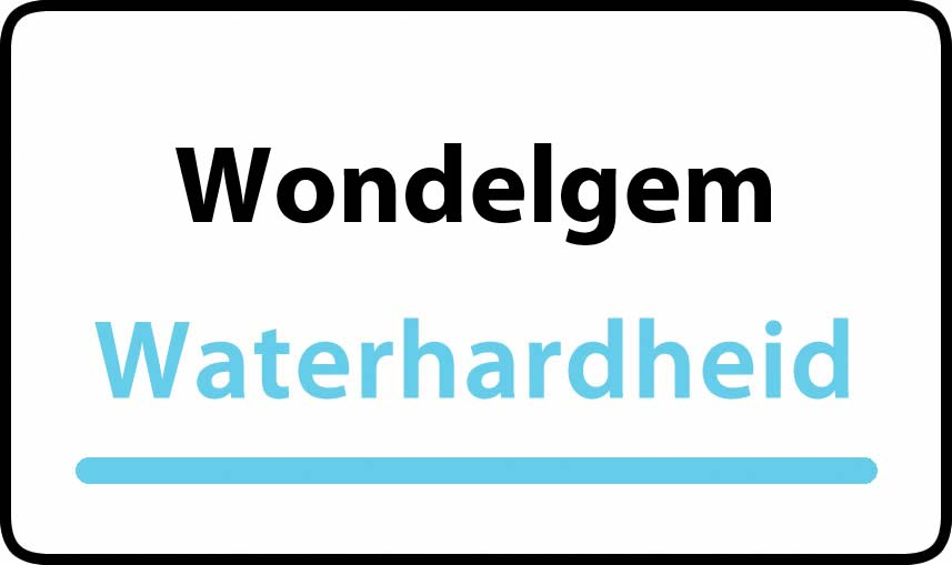 waterhardheid in Wondelgem is middel hard water 22 °F Franse graden