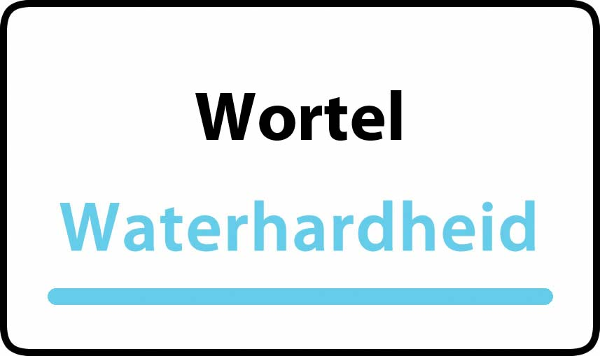 waterhardheid in Wortel is middel hard water 18 °F Franse graden