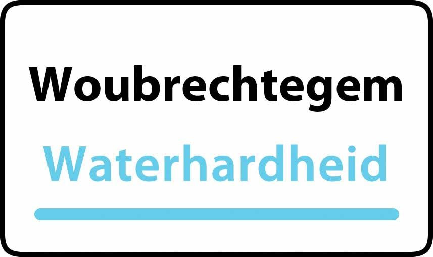 waterhardheid in Woubrechtegem is middel hard water 23 °F Franse graden