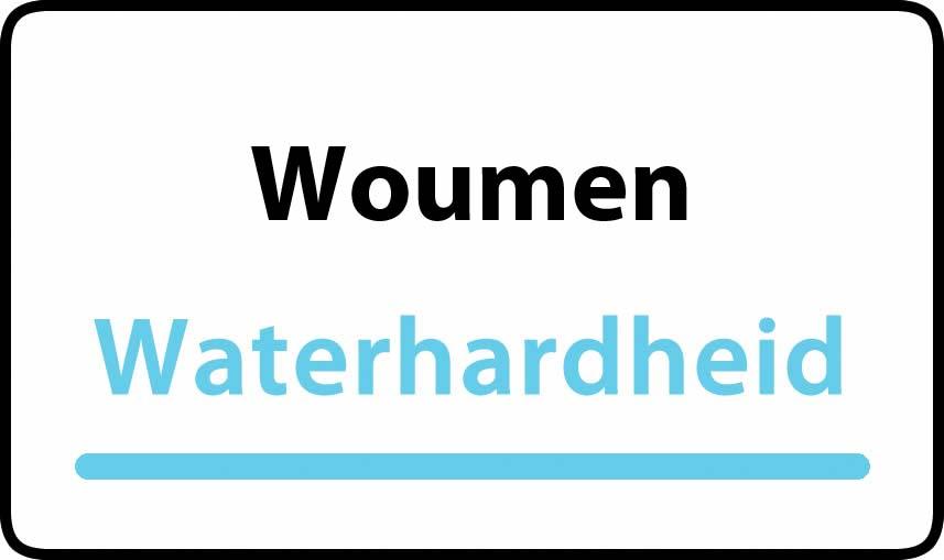 waterhardheid in Woumen is middel hard water 27 °F Franse graden