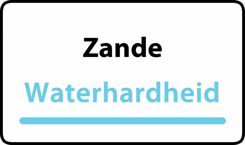 waterhardheid in Zande is hard water 32 °F Franse graden