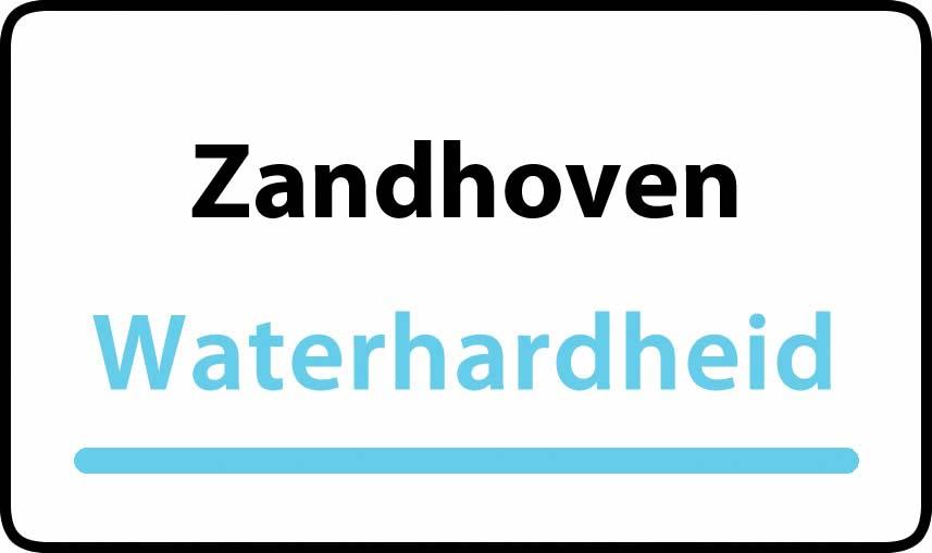 waterhardheid in Zandhoven is middel hard water 18 °F Franse graden