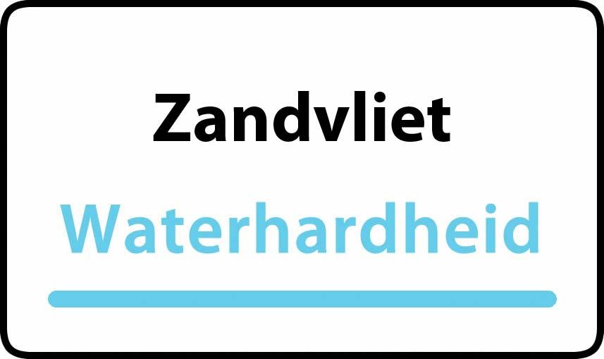waterhardheid in Zandvliet is middel hard water 18 °F Franse graden