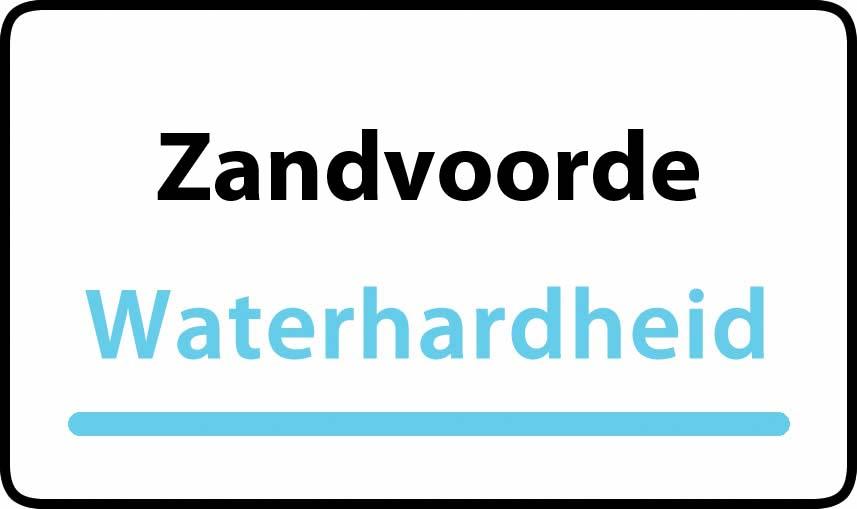 waterhardheid in Zandvoorde is hard water 32 °F Franse graden