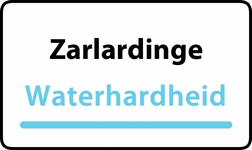 waterhardheid in Zarlardinge is zeer hard water 55 °F Franse graden