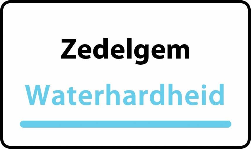 waterhardheid in Zedelgem is middel hard water 28 °F Franse graden
