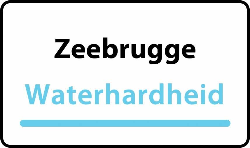 waterhardheid in Zeebrugge is hard water 32 °F Franse graden