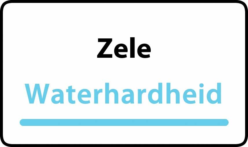 waterhardheid in Zele is middel hard water 29 °F Franse graden