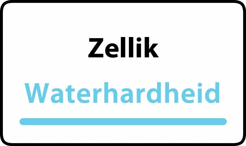 waterhardheid in Zellik is hard water 30 °F Franse graden