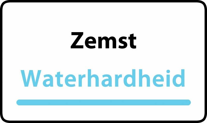 waterhardheid in Zemst is hard water 37 °F Franse graden