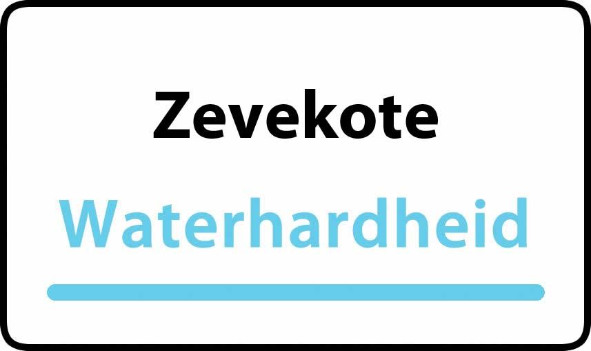 waterhardheid in Zevekote is hard water 32 °F Franse graden