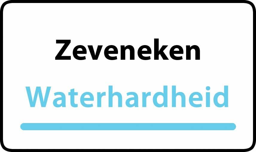 waterhardheid in Zeveneken is middel hard water 22 °F Franse graden