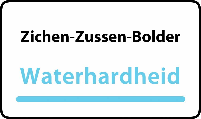 waterhardheid in Zichen-Zussen-Bolder is hard water 37 °F Franse graden