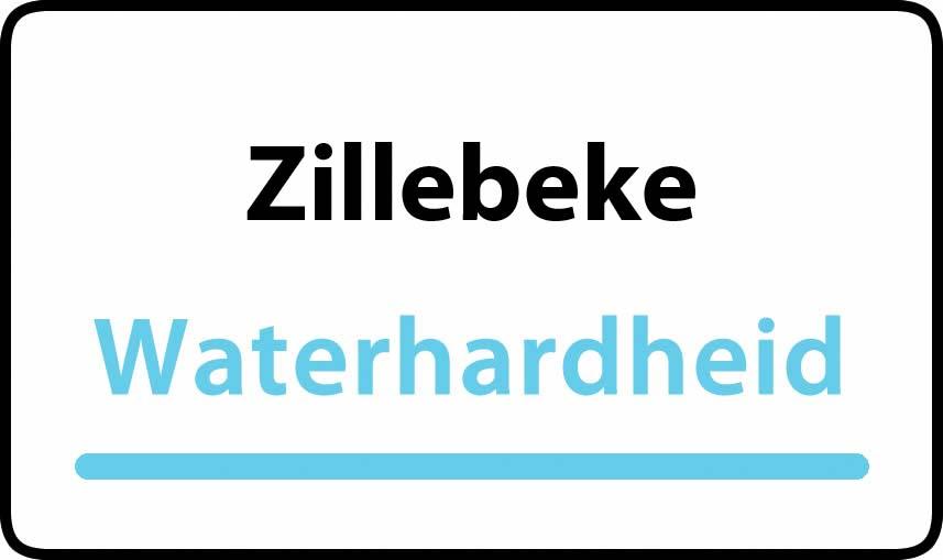 waterhardheid in Zillebeke is zeer hard water 45 °F Franse graden
