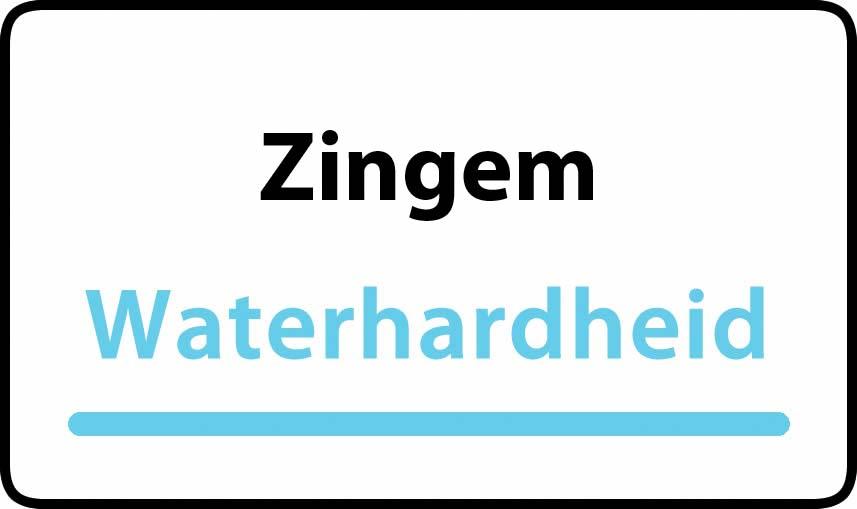 waterhardheid in Zingem is hard water 39 °F Franse graden