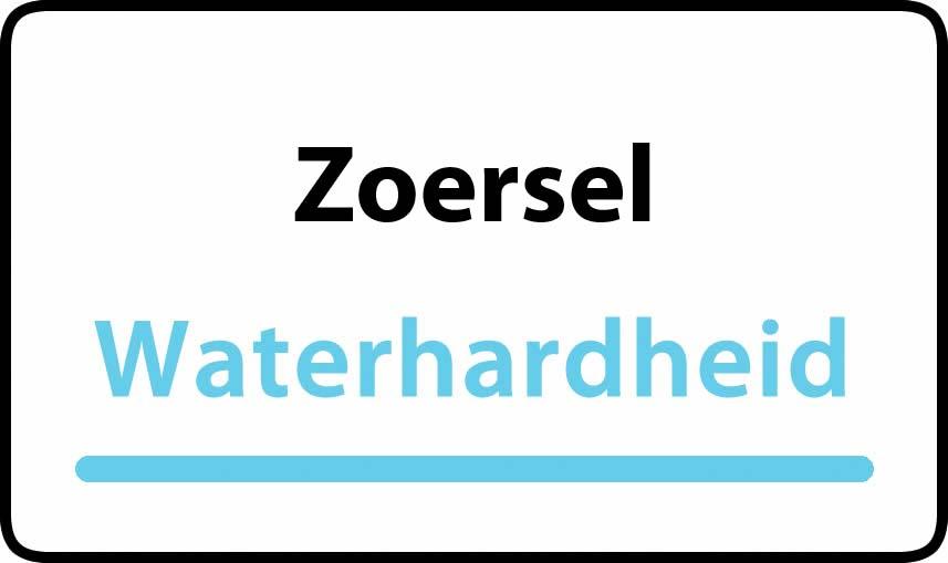 waterhardheid in Zoersel is middel hard water 18 °F Franse graden