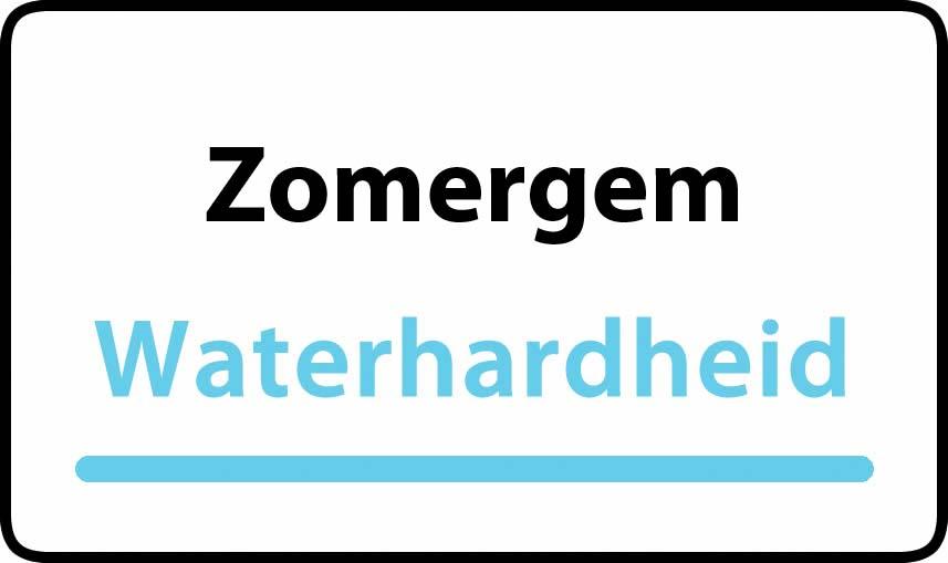 waterhardheid in Zomergem is middel hard water 23 °F Franse graden