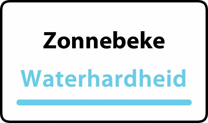 waterhardheid in Zonnebeke is hard water 44 °F Franse graden