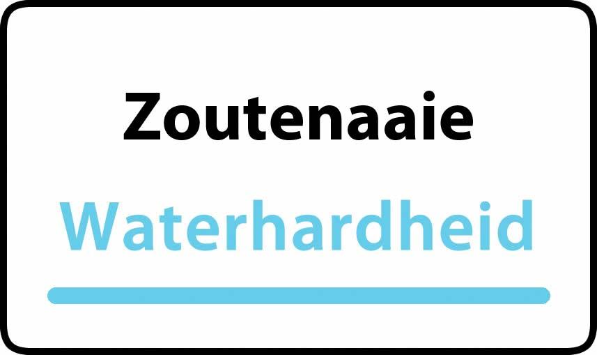 waterhardheid in Zoutenaaie is hard water 40 °F Franse graden