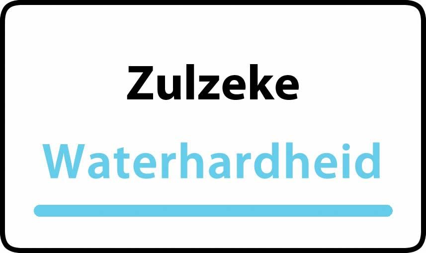 waterhardheid in Zulzeke is hard water 39 °F Franse graden