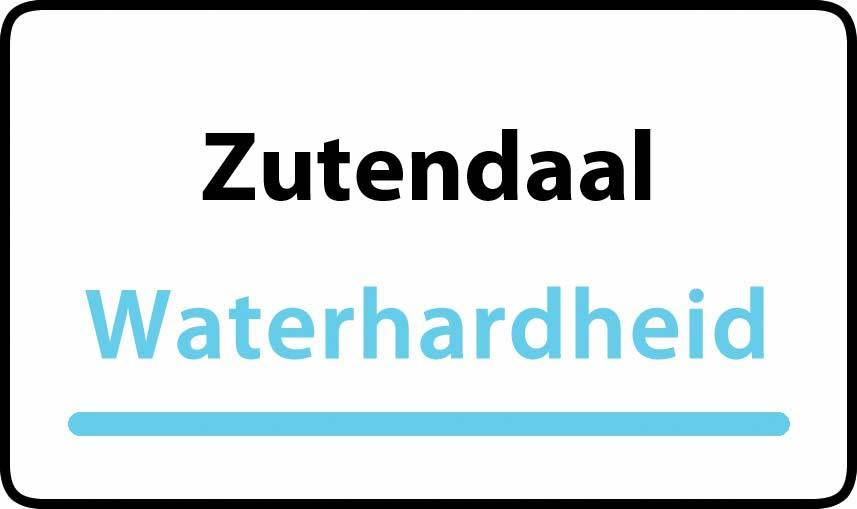 waterhardheid in Zutendaal is middel hard water 22 °F Franse graden