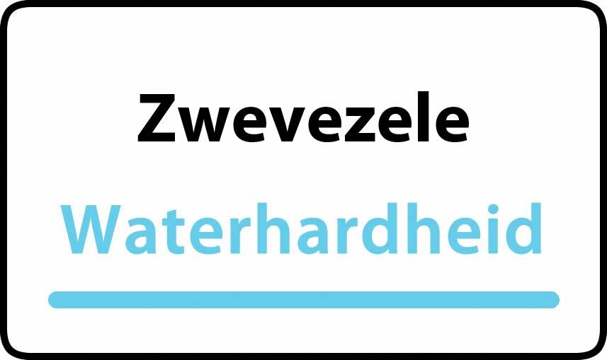 waterhardheid in Zwevezele is hard water 31 °F Franse graden