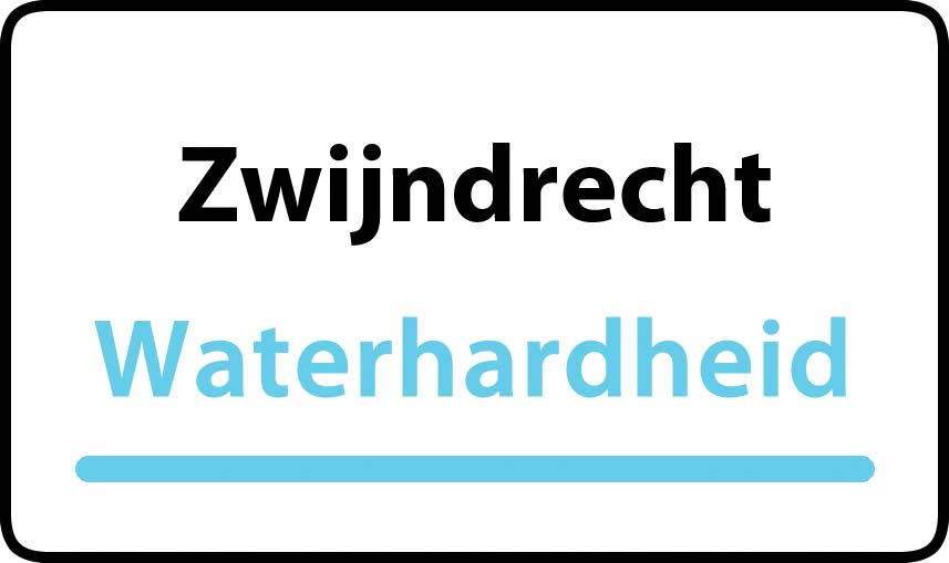 waterhardheid in Zwijndrecht is middel hard water 18 °F Franse graden